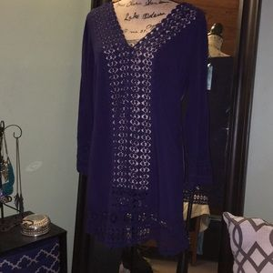 Swim Coverup with Crochet Detail